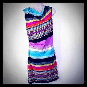 Jonathan Martin rainbow striped dress